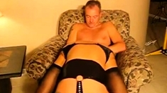 Horny Wife In Lingerie Fucked And Cummed