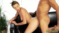 partner's daughter flirts with daddy Sex with her