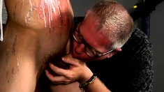 Male bondage table and gay boys twink first time The