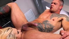 GIRLSRIMMING - Hot rimming after party with blonde Roxy Risi